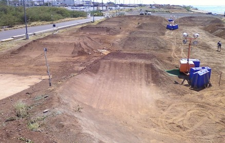 Sandbox BMX track at Sand Island, Honolulu, O'ahu... Work in progress but soon to be complete!