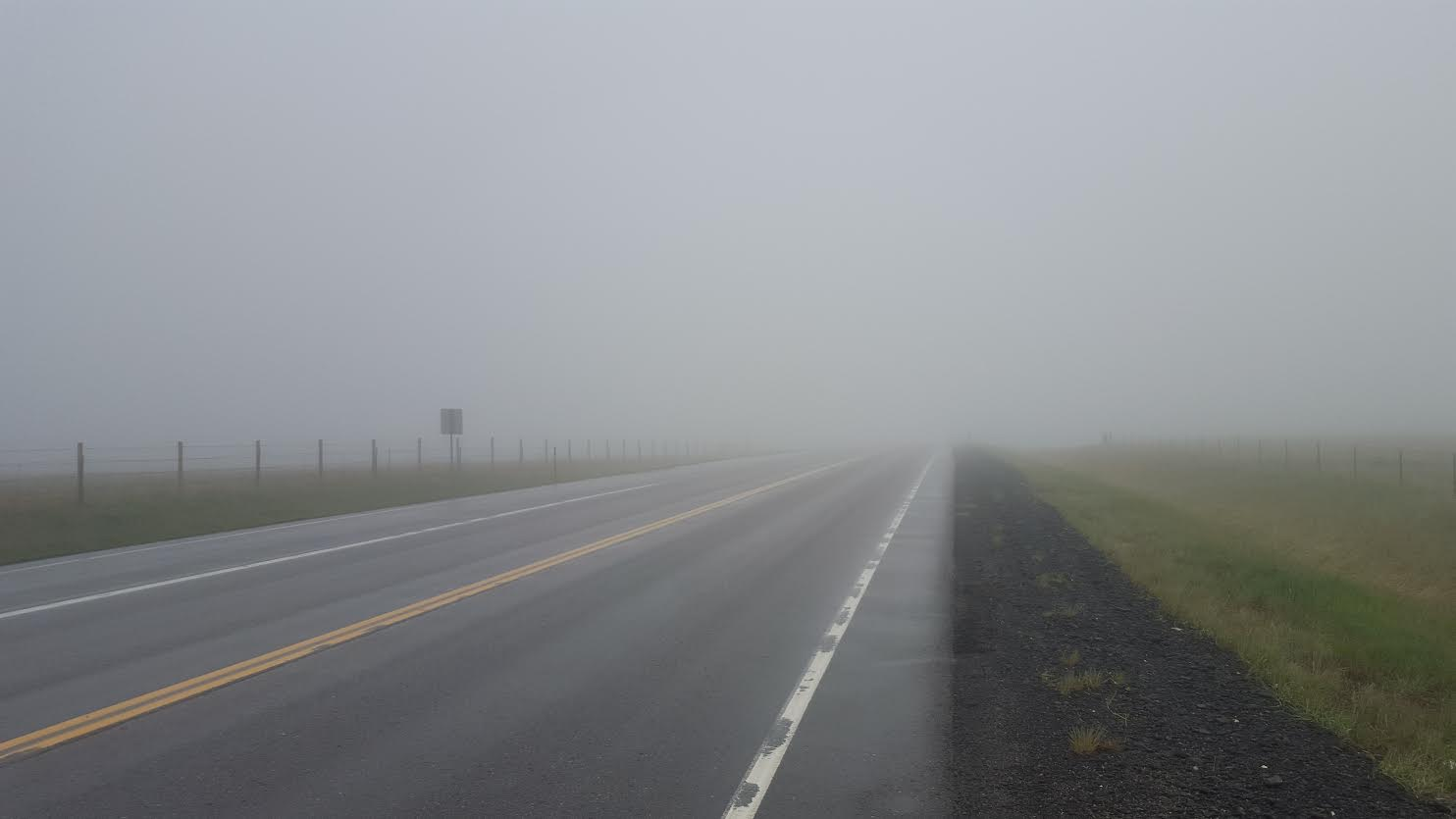 This is what the road looked like on Saturday's ride.