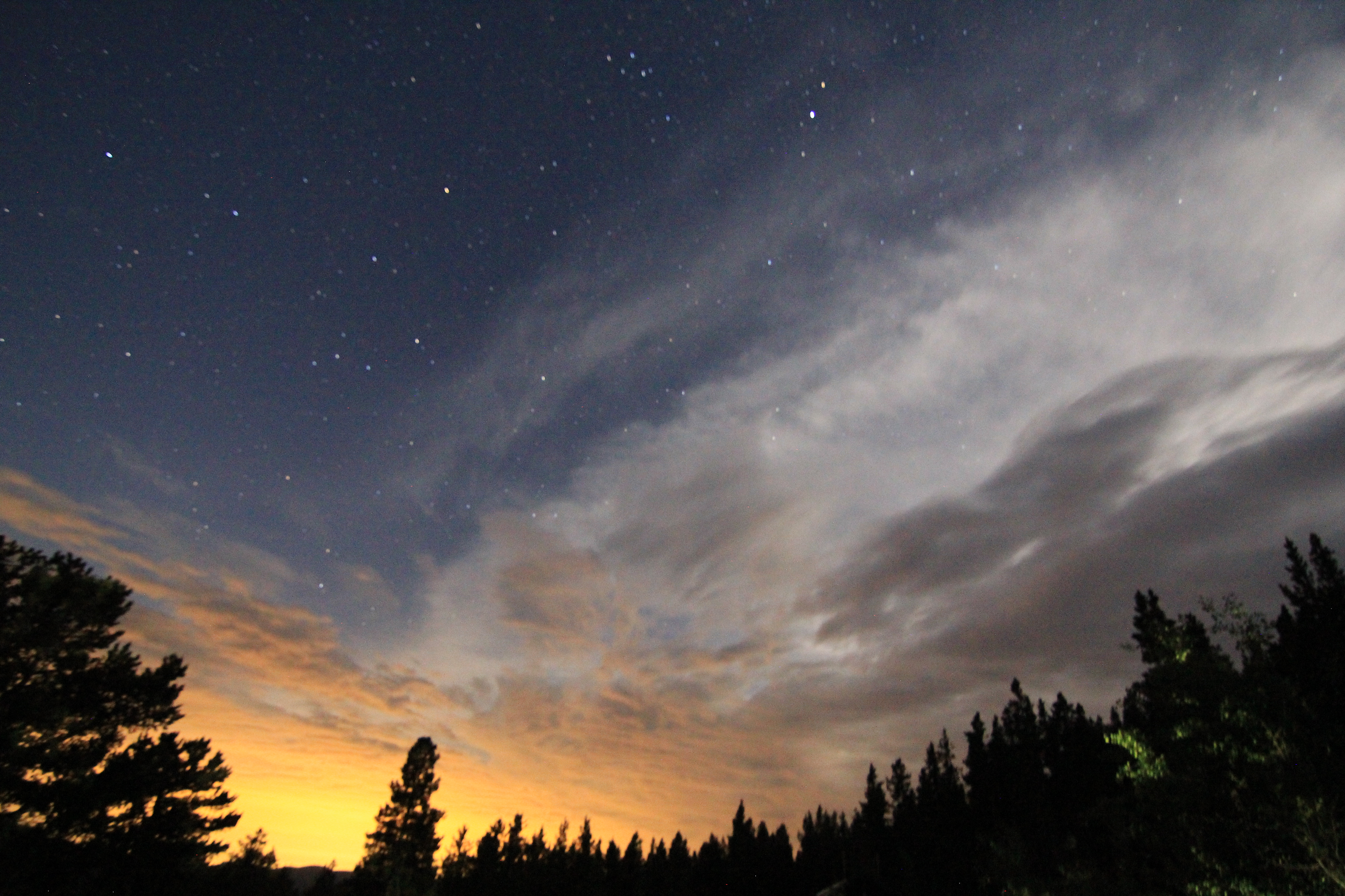 The sky as viewed from the Longs Peak trailhead at 2am. Amazing!